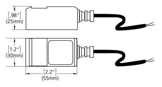 InnovaSonic 203 side view clamp on transducers