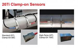 InnovaSonic 207i clamp on sensors by Sierra Instruments