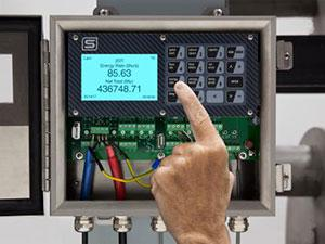 InnovaSonic 207i display closeup thermal  by Sierra Instruments